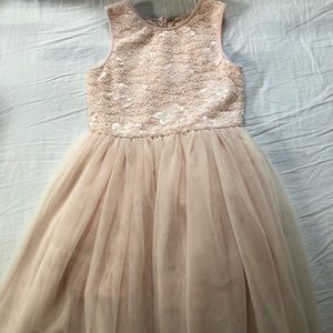 Pippa & Julie tulle and lace pink dress